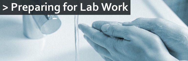 preparing for lab work